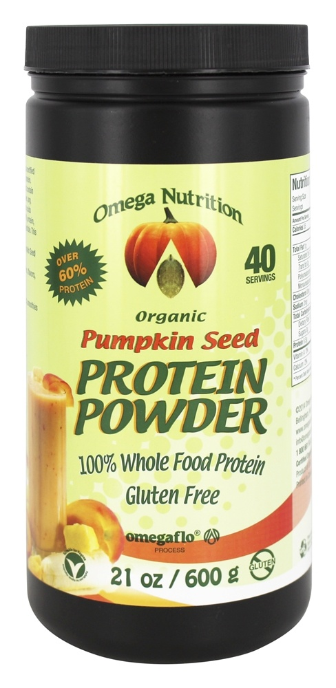 Buy Omega Nutrition - Organic Protein Powder Pumpkin Seed - 21 oz. at LuckyVitamin.com