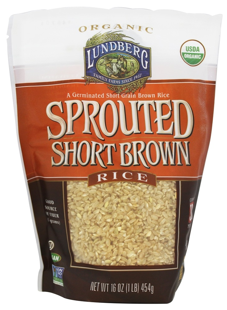 Buy Lundberg Organic Sprouted Short Brown Rice 16 Oz