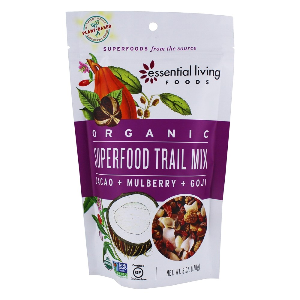Buy Essential Living Foods   Organic Superfood Trail Mix   8 Oz. At  LuckyVitamin.com