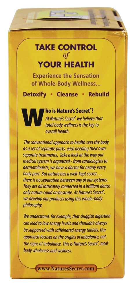 Nature S Secret  Day Ultimate Cleanse  Part Total Body Cleanse Tablets
