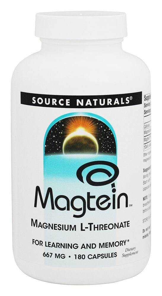 Buy Source Naturals - Magtein Magnesium L-Threonate 667 mg ...