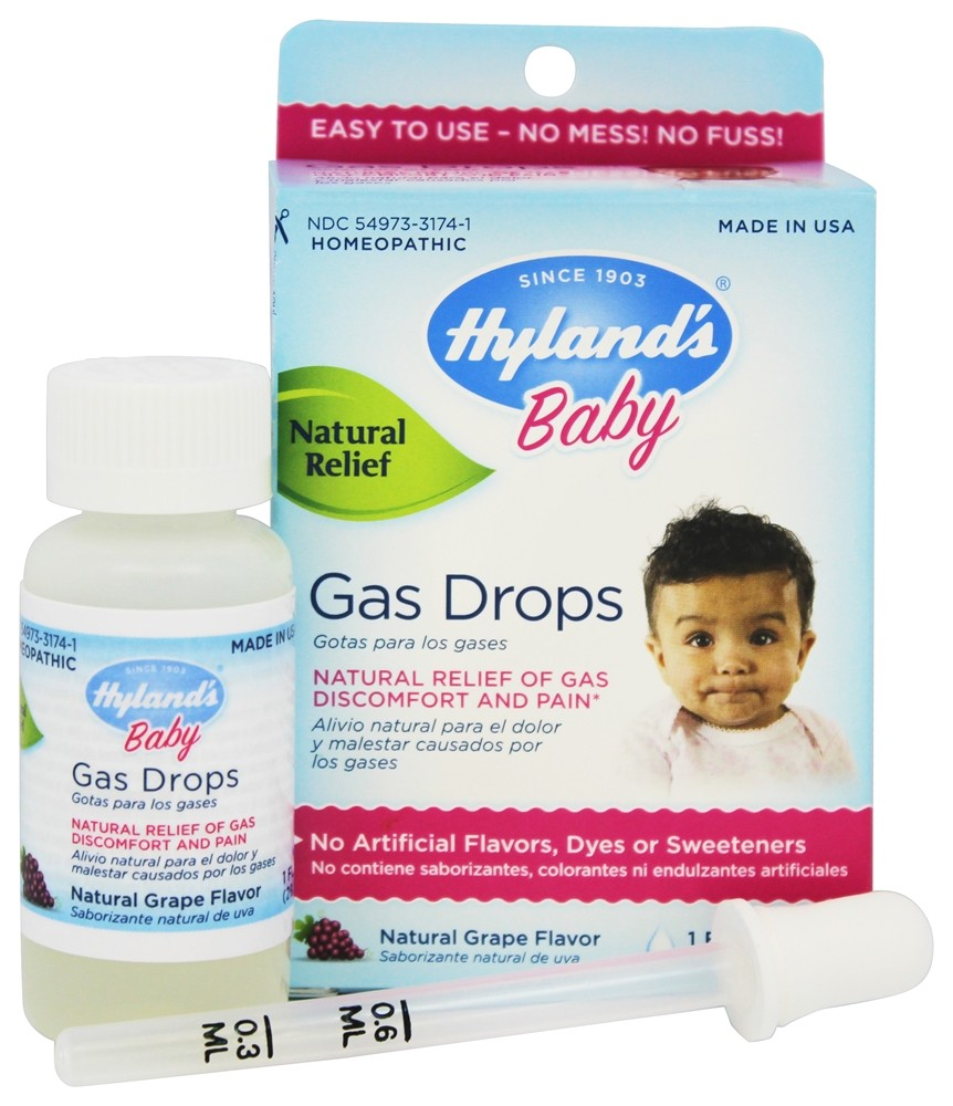 Hyland S Baby Gas Drops Natural Grape Flavor