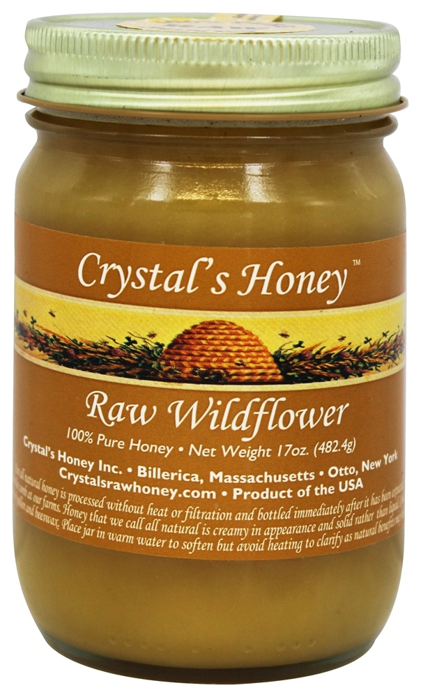 100% Pure Raw Honey Wildflower - 17 oz  by Crystal's All Natural