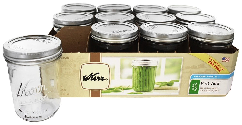 16 oz mason jars buy kerr wide 16 oz pint jars freezer safe 10150