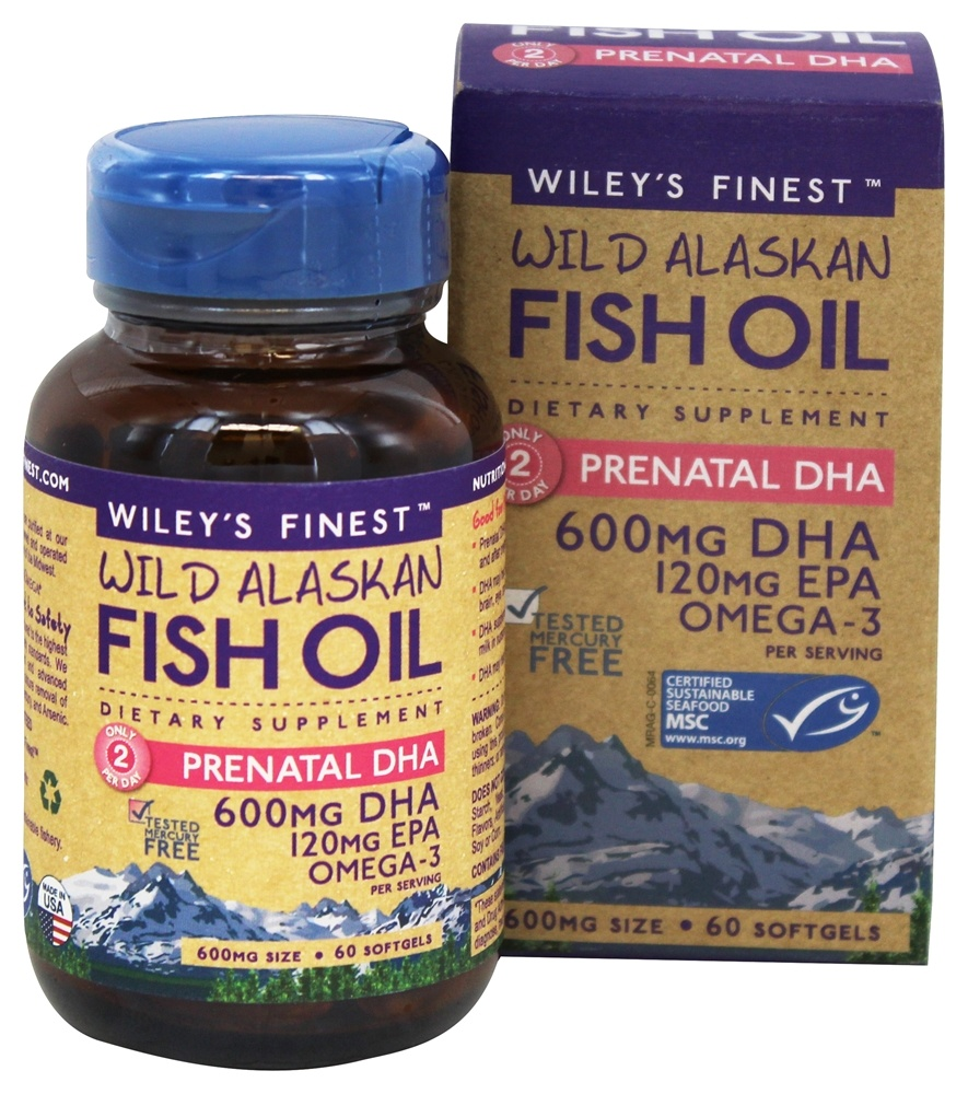 Buy wiley 39 s finest wild alaskan fish oil prenatal dha for Multivitamin with fish oil