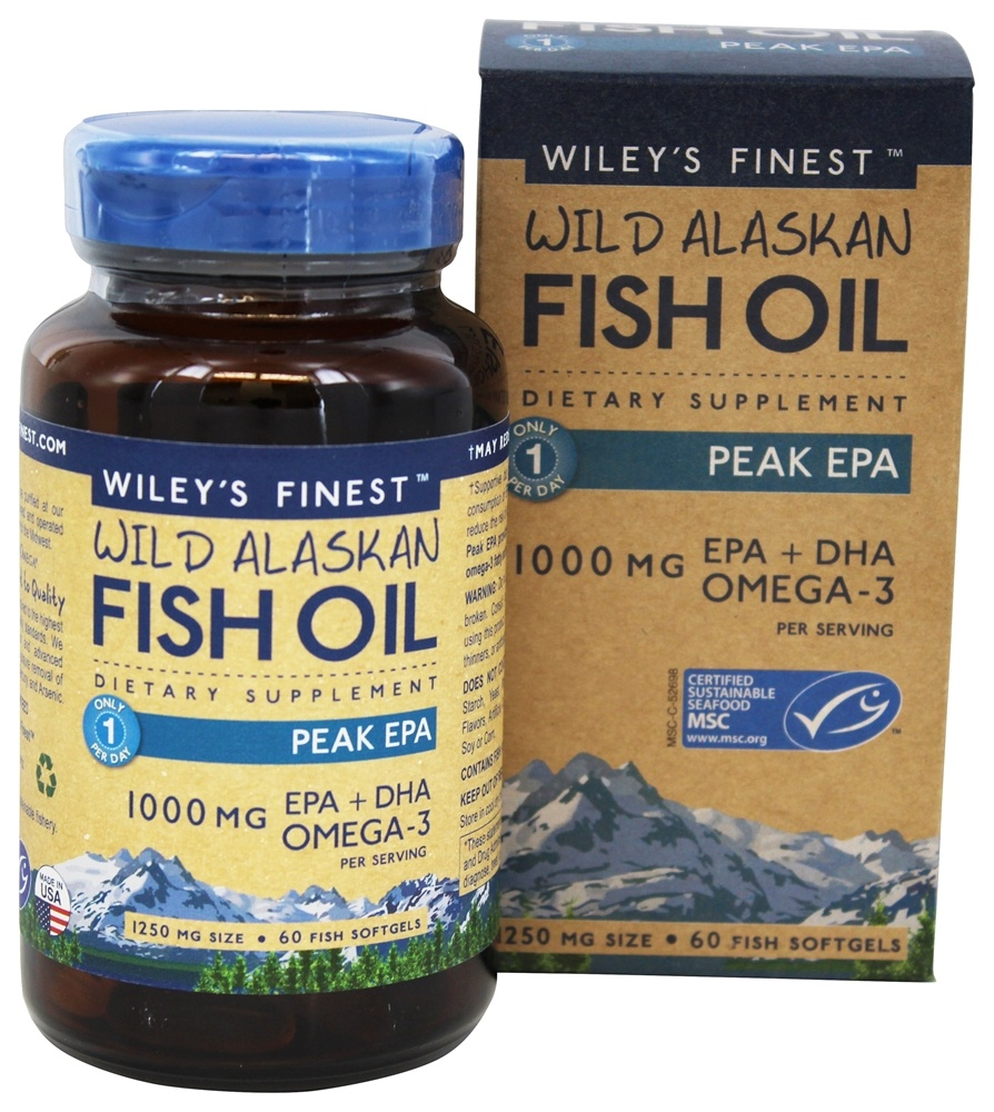 Buy wiley 39 s finest wild alaskan fish oil peak epa 1250 for Where does fish oil come from