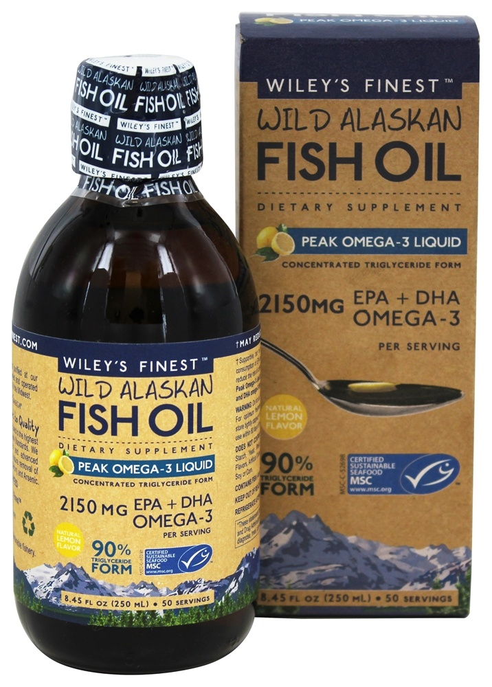 Buy wiley 39 s finest wild alaskan fish oil peak omega 3 for Fish oil supplement dosage