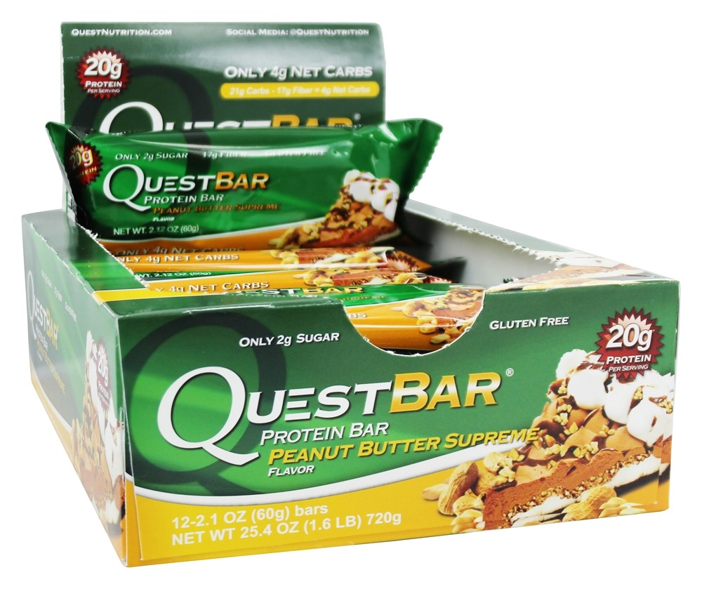 Buy quest nutrition quest bar protein bar peanut butter for Muscle food quest bar