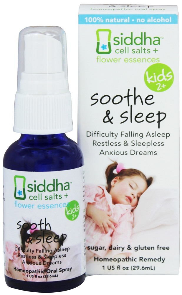 Cell Salts + Flower Essences Kids 2+ Soothe & Sleep Homeopathic Remedy - 1  oz  by Siddha