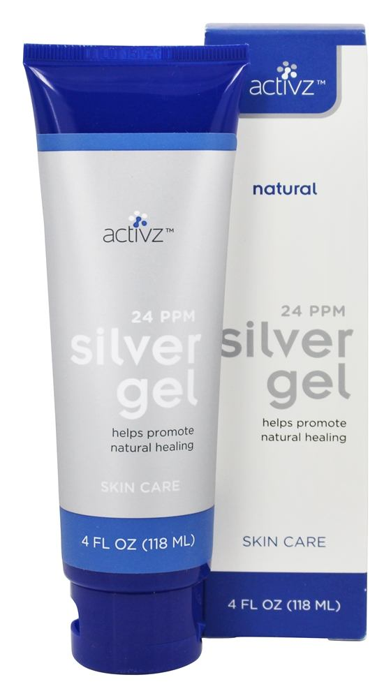 Buy Activz Silver Gel Natural Skin Care 24 Ppm 4 Fl