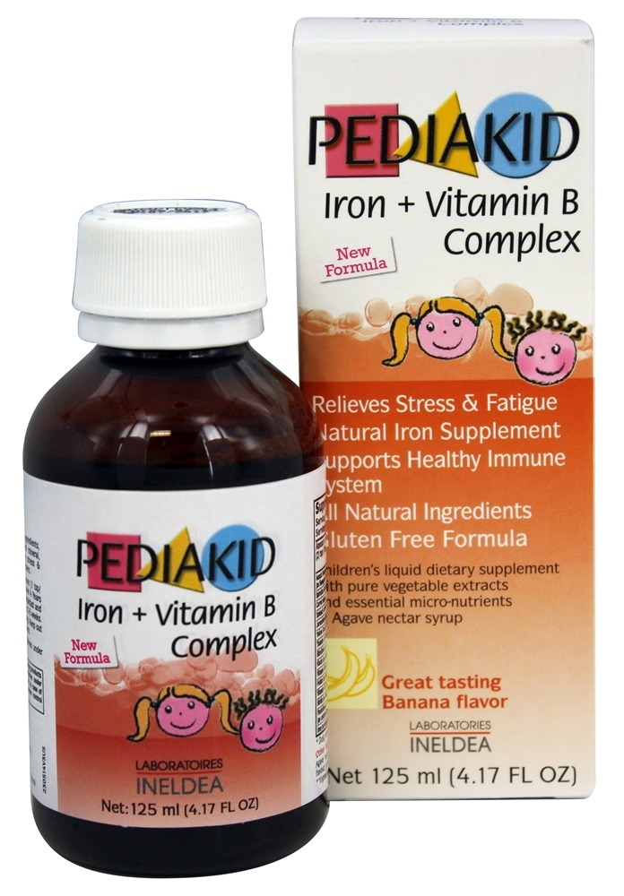 Buy Pediakid Iron Vitamin B Complex Banana Flavor