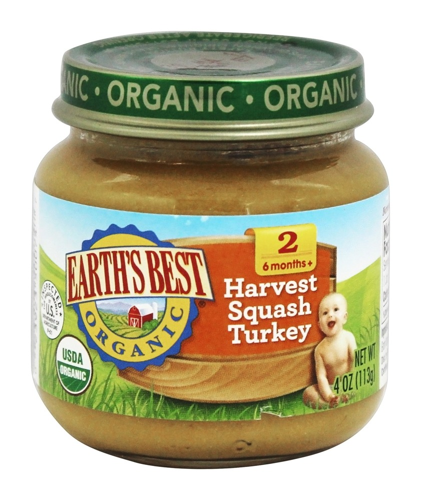 Earth S Best Organic Harvest Squash And Turkey Baby Food