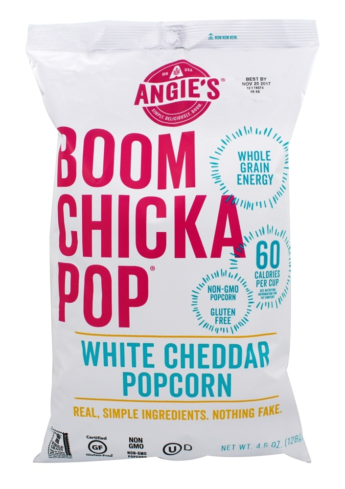 Buy angie 39 s boomchickapop popcorn white cheddar 4 5 oz for Angie s african cuisine