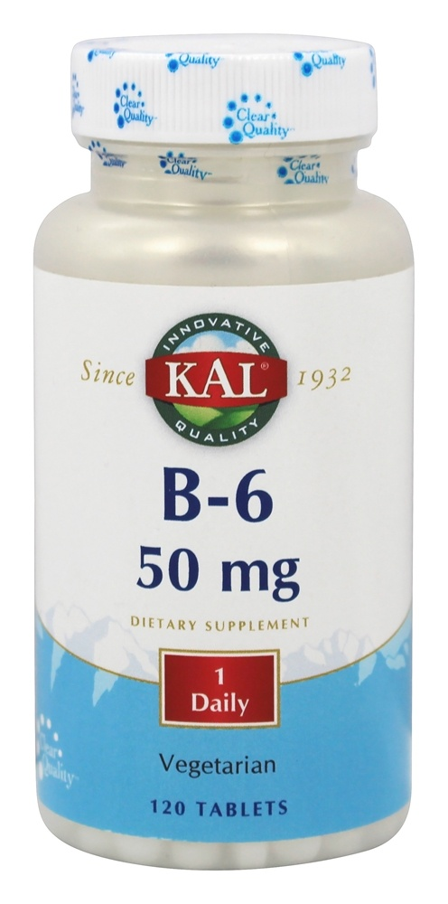 buy kal vitamin b6 50 mg 120 tablets at luckyvitamin com