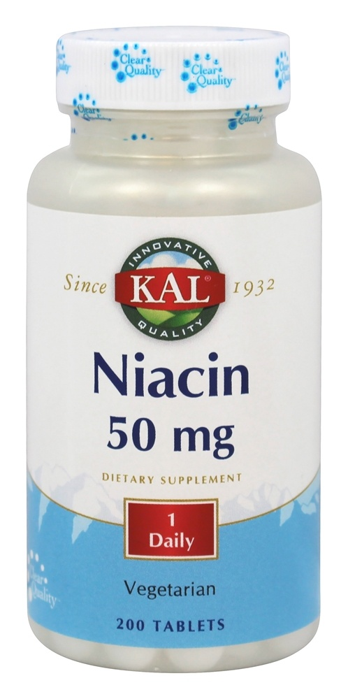 buy kal niacin 50 mg 200 tablets at luckyvitamin com