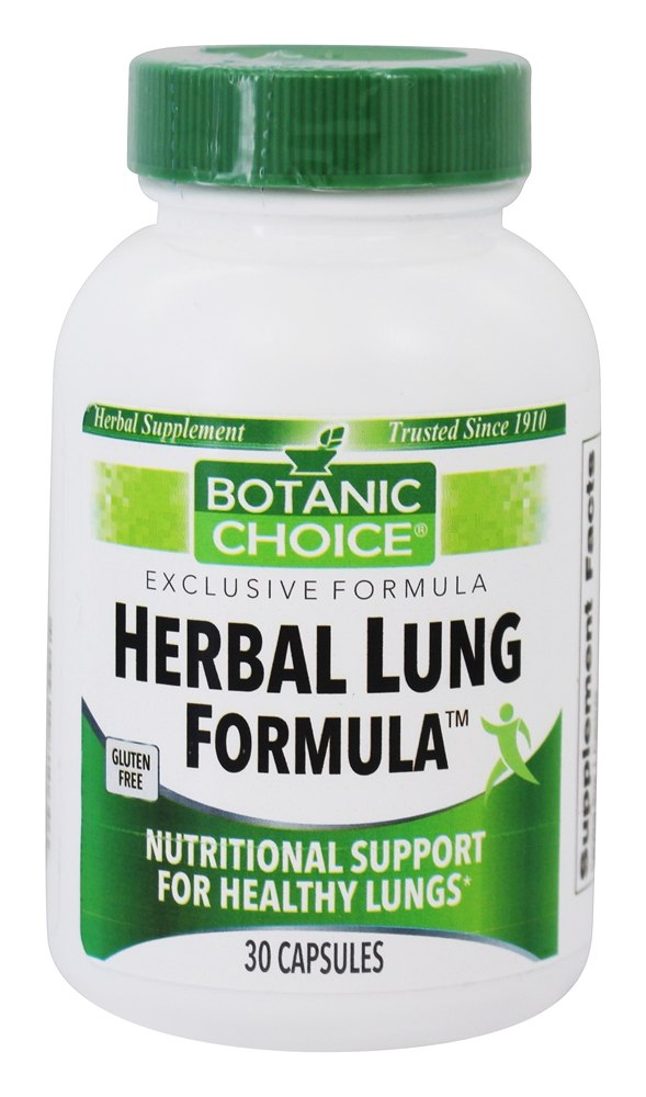 Buy Botanic Choice Herbal Lung Formula 30 Capsules At