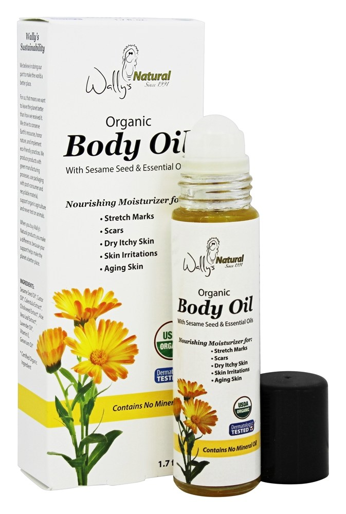 Wally S Natural Organic Body Oil Roll On