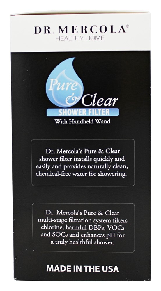 buy dr mercola premium supplements pure and clear shower filter with handh. Black Bedroom Furniture Sets. Home Design Ideas