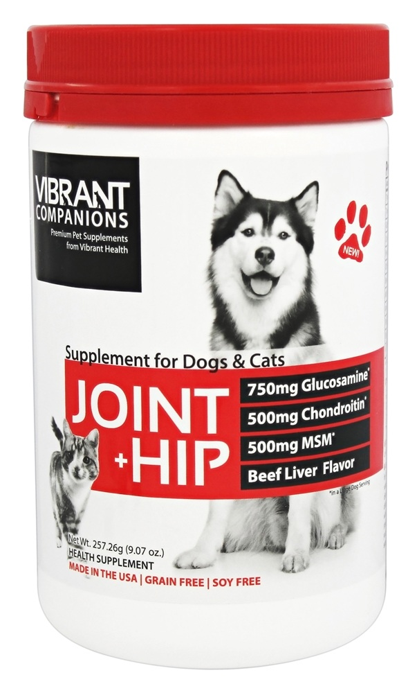 buy vibrant health joint hip supplement for dogs cats beef