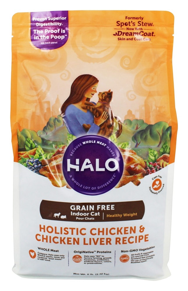 Buy Halo Purely for Pets - Halo Holistic Healthy Weight Grain Free Dry Food for Indoor Cats ...