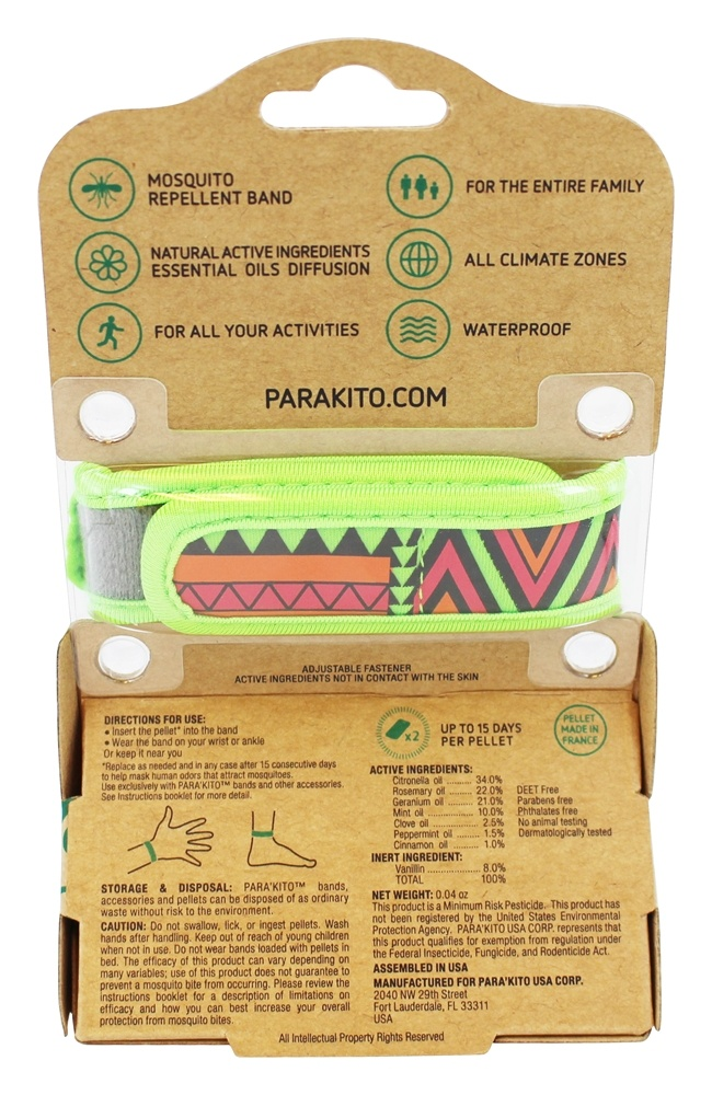Buy para 39 kito mosquito repellent refillable band 2 for Mosquito pellets