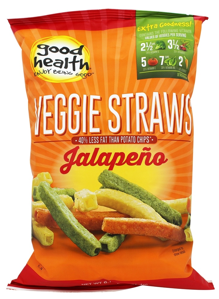 Buy Good Health Natural Foods - Veggie Straws Jalapeno - 6 ...