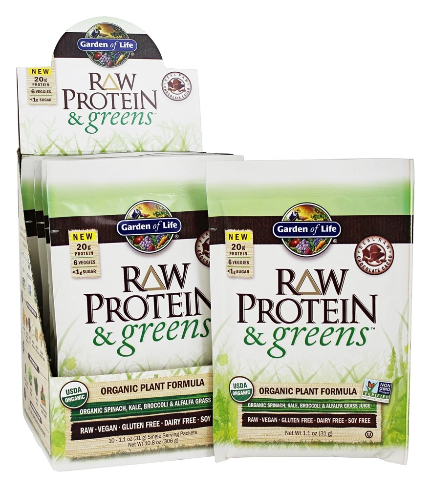 Buy Garden Of Life Raw Protein Greens Organic Plant Formula Real Raw Chocolate Cacao 10