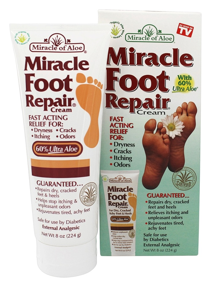 Buy Miracle Of Aloe Miracle Foot Repair Cream 8 Oz At