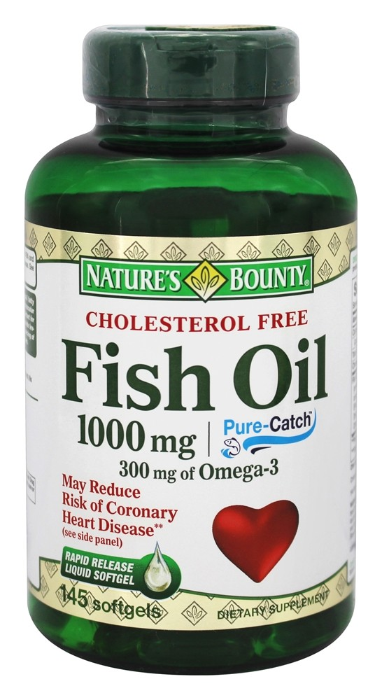 Buy nature 39 s bounty cholesterol free fish oil 1000 mg for Is fish oil good for cholesterol