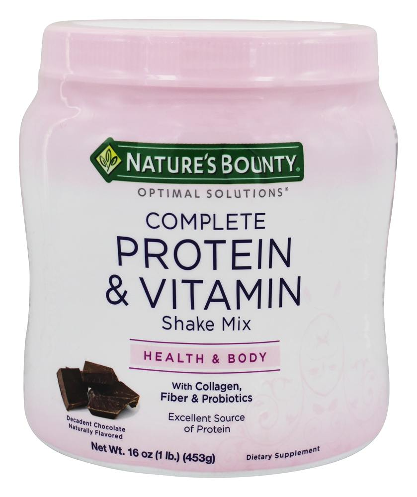 Nature S Bounty Protein Shake Ingredients