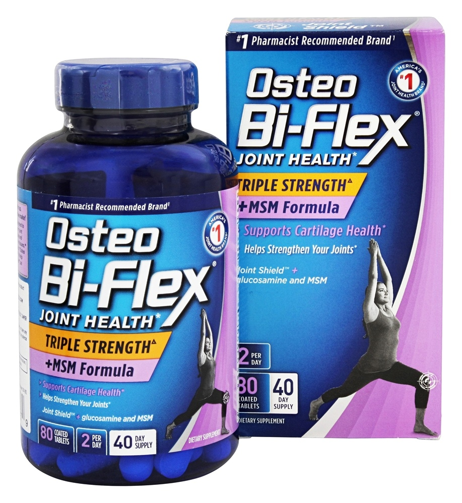 Joint Health Triple Strength Plus MSM Formula - 80 Coated Tablet(s) by  Osteo Bi-Flex