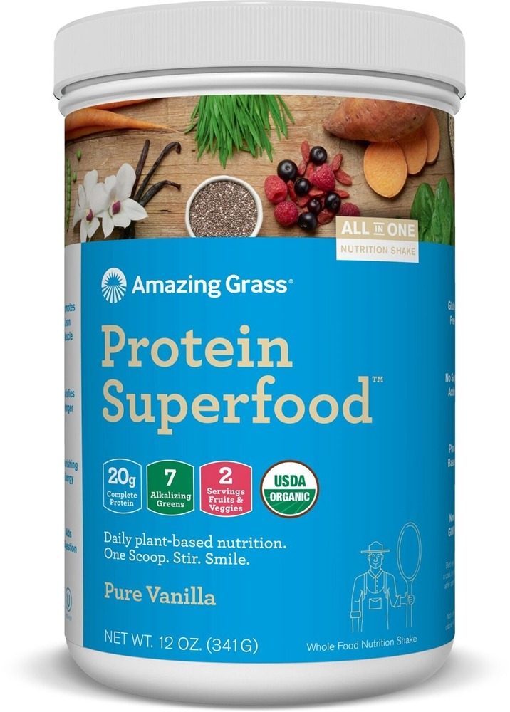 Buy Amazing Grass Organic Protein Superfood Shake Pure