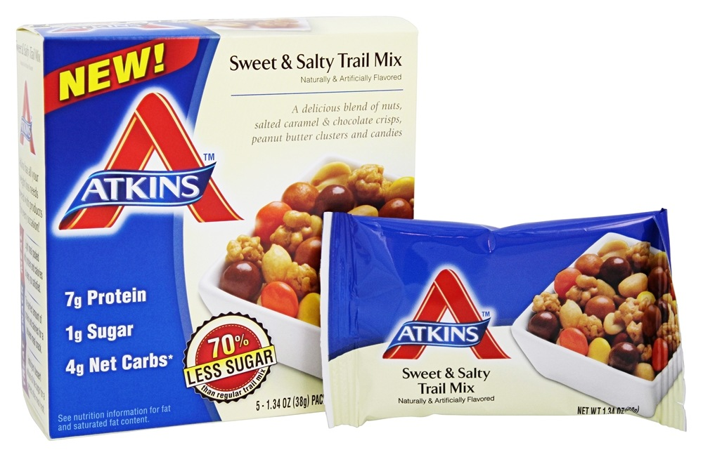 Buy atkins trail mix snack classic 5 pack s at for Atkins cuisine baking mix