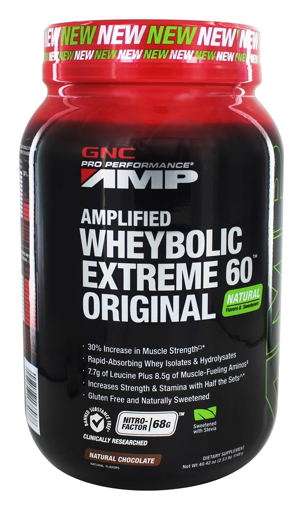 Buy GNC - Pro Performance AMP Amplified Wheybolic Extreme 60