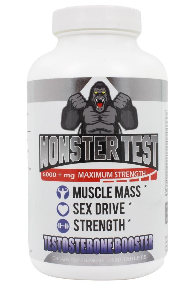 Buy Angry Supplements - Monster Test Testosterone Booster Maximum Strength 6000 mg. - 120