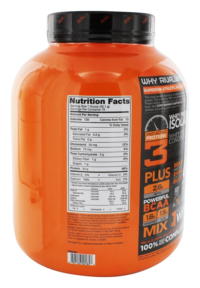 Buy Rivalus - Rival Whey 100% Whey Isolate Primary Source ...