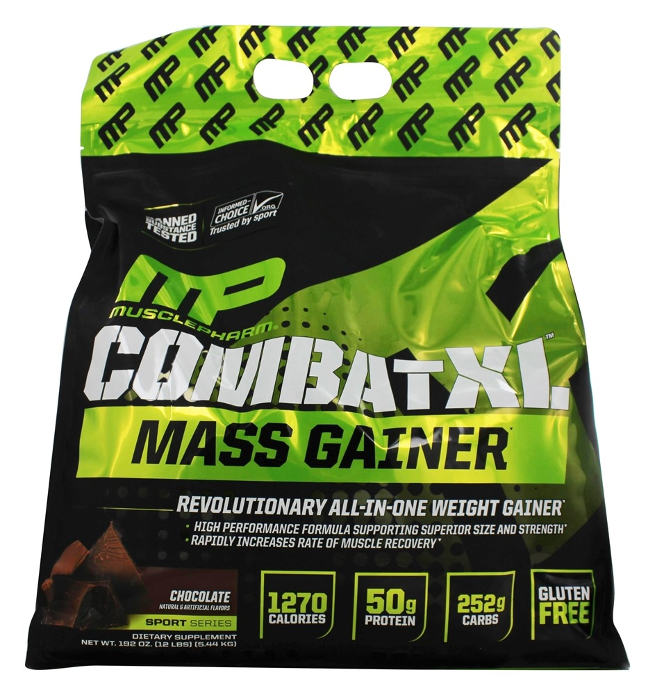 Buy Muscle Pharm Combat Xl Mass Gainer Chocolate 12 Lbs At Serious 12lbs Optimum Nutrition