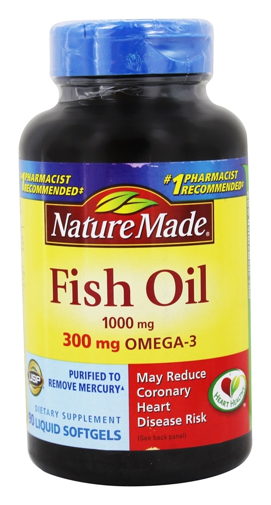 Buy nature made fish oil 1000 mg 90 liquid softgels for Nature made fish oil