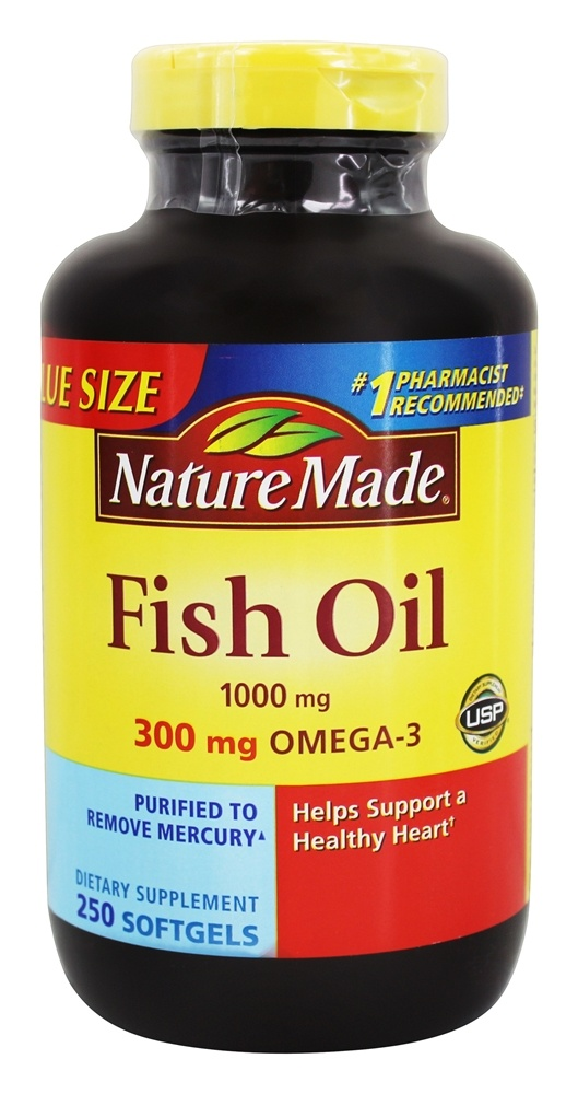 Buy nature made fish oil 1000 mg 250 liquid softgels for Where does fish oil come from