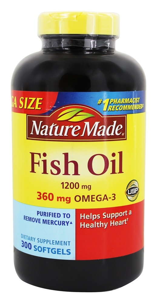 Buy nature made fish oil 1200 mg 300 liquid softgels for Natural made fish oil