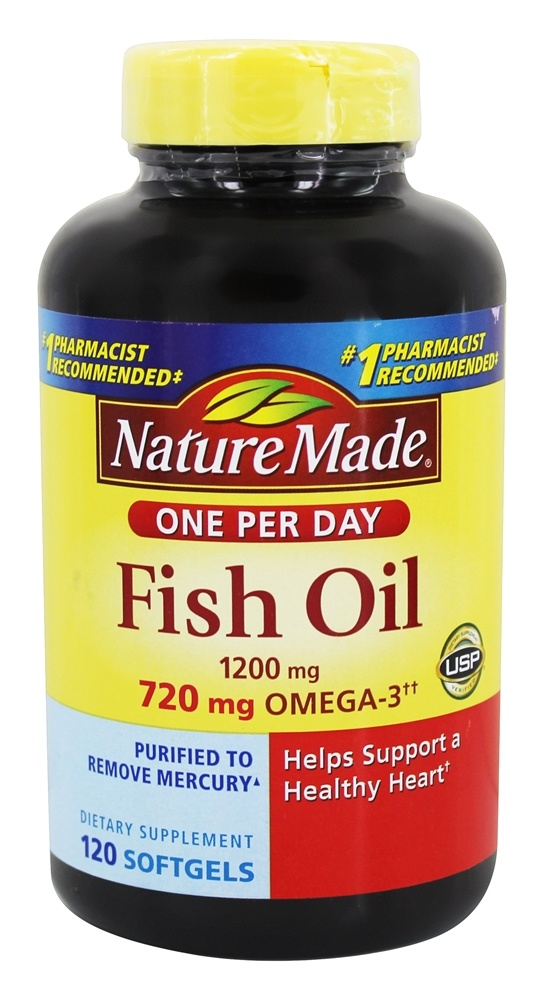 Buy nature made fish oil one per day 1200 mg 120 for How many mg of fish oil per day