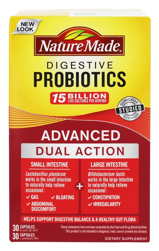 Nature Made Digestive Probiotics Advanced Dual Action Reviews