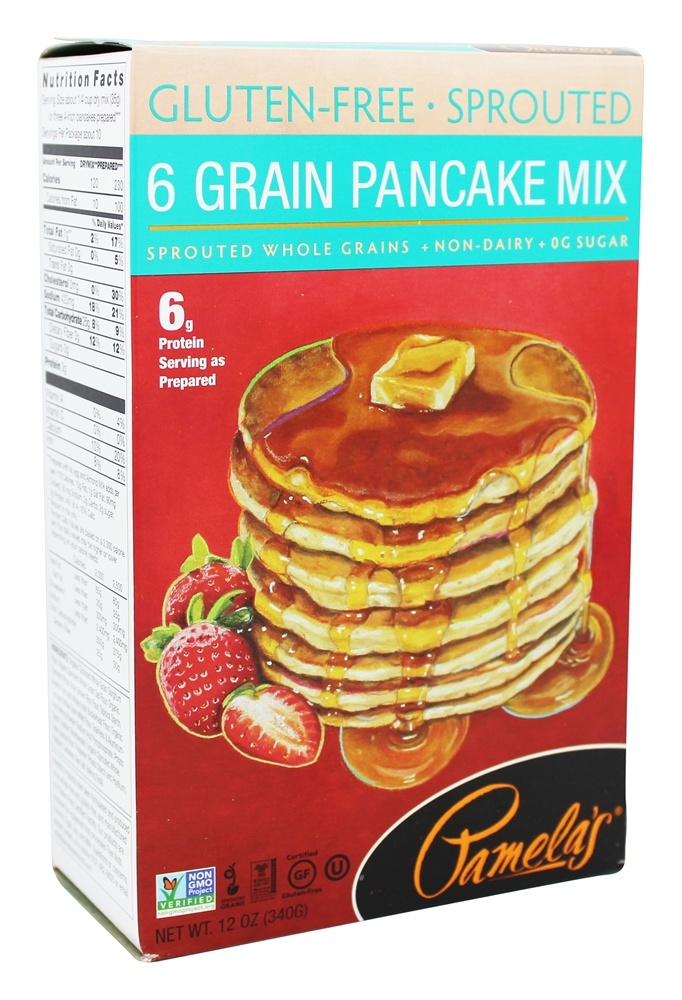 Buy Pamelas Products GlutenFree Sprouted 6 Grain Pancake Mix