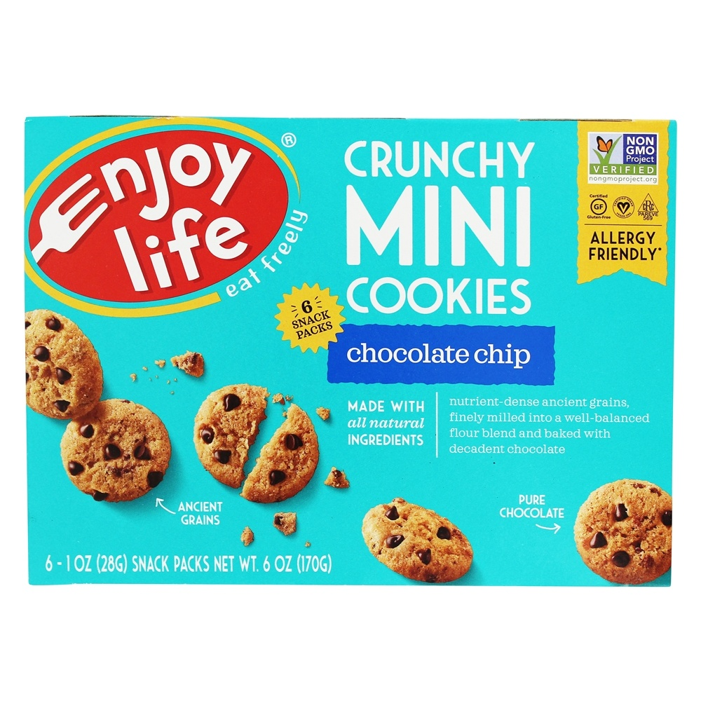 Enjoy Life Crunchy Mini Chocolate Chip Cookies