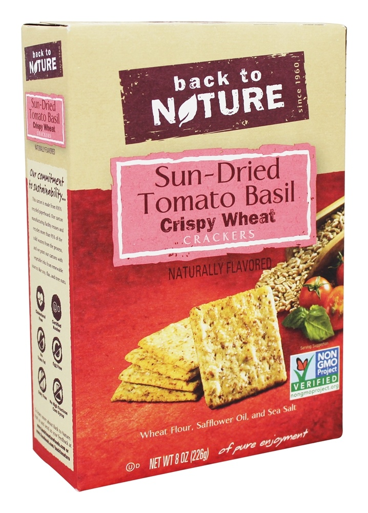 ... Wheat Crackers Sun-Dried Tomato Basil - 8 oz. at LuckyVitamin.com