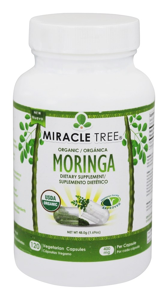 buy miracle tree organic moringa 400 mg 120