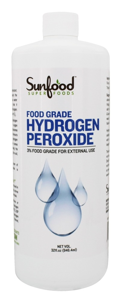 Hydrogen Peroxide Food Grade - 32 oz  by Sunfood Superfoods