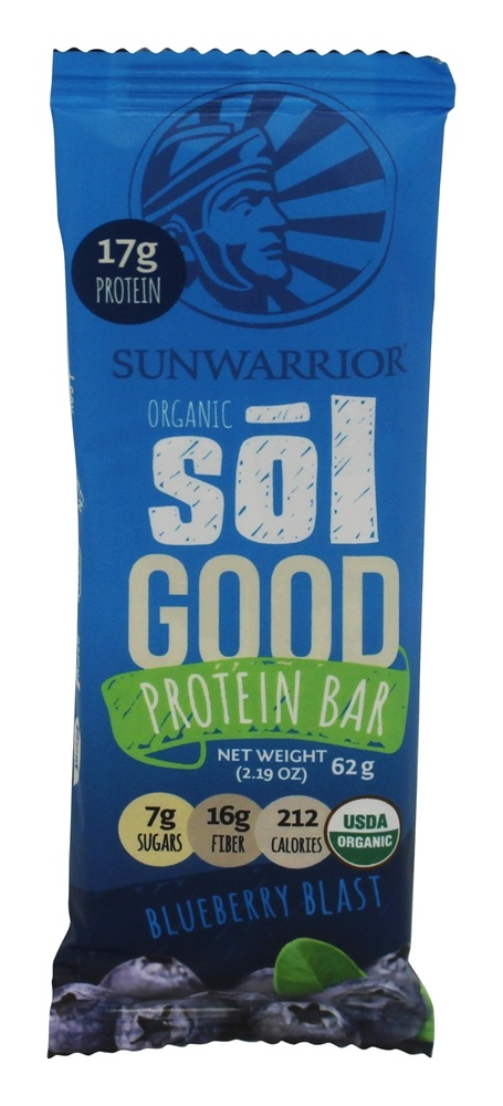 Buy Sunwarrior - Organic Sol Good Protein Bar Blueberry