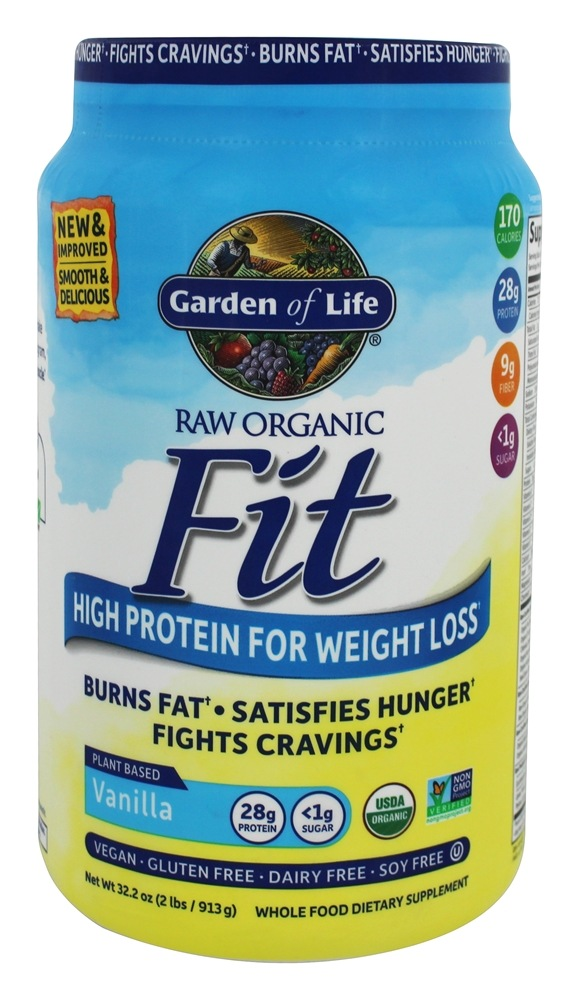 Buy Garden Of Life Raw Organic Fit High Protein For Weight Loss Vanilla 32 2 Oz At