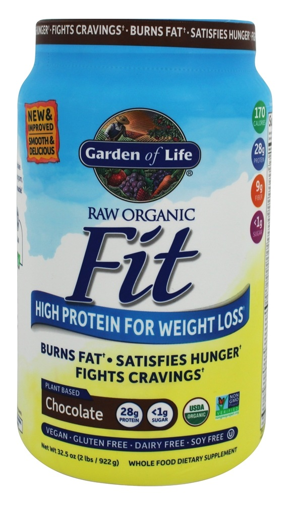 Buy garden of life raw organic fit high protein for weight loss chocolate 32 5 oz at for Garden of life raw protein weight loss